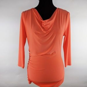 Vince Camuto Cowl Neck Ruched Side Blouse